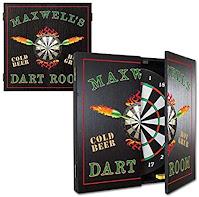 Thousand Oaks Barrel Personalized Dartboard Cabinet