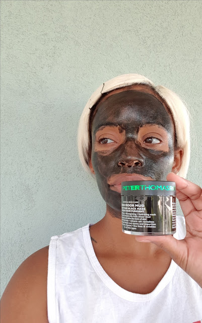 Peter Thomas Roth Irish Moor Mud Purifying Black Mask applied - www.modenmakeup.com