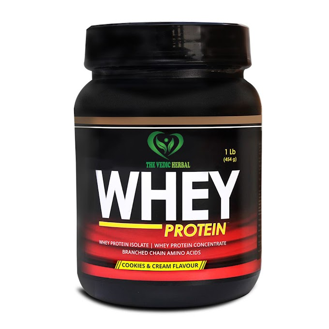TheVedicHerbal WHEY PROTEIN 1LB (COOKIES AND CREAM FLAVOUR)