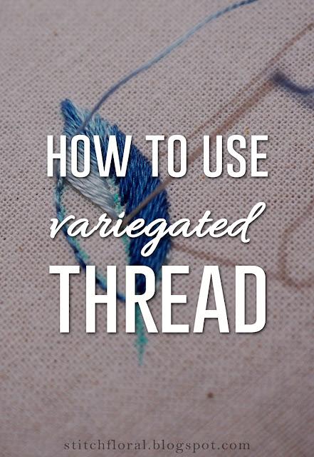 Variegated thread tips