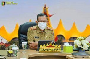 Sekdaprov Lampung Hadiri Rapat Penanganan Covid-19