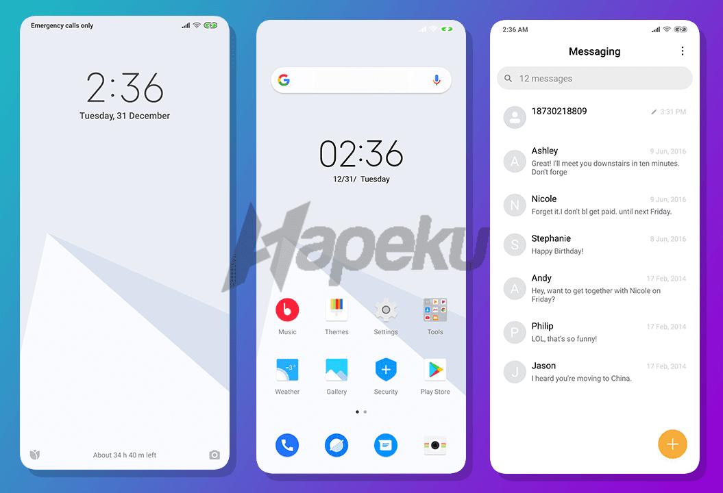 Screenshot Pure UI