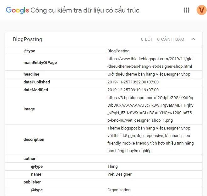 blogger blogposting schema