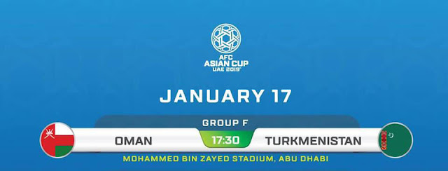 Oman vs Turkmenistan Live Streaming AFC 2019 (17.1.2019)