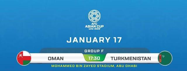Oman vs Turkmenistan Live Streaming AFC 2019 (17.1.2019)