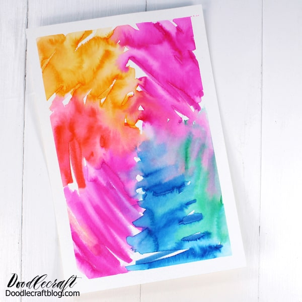 This tie dyed paper is full of bright colors and just scream Summer time crafting!