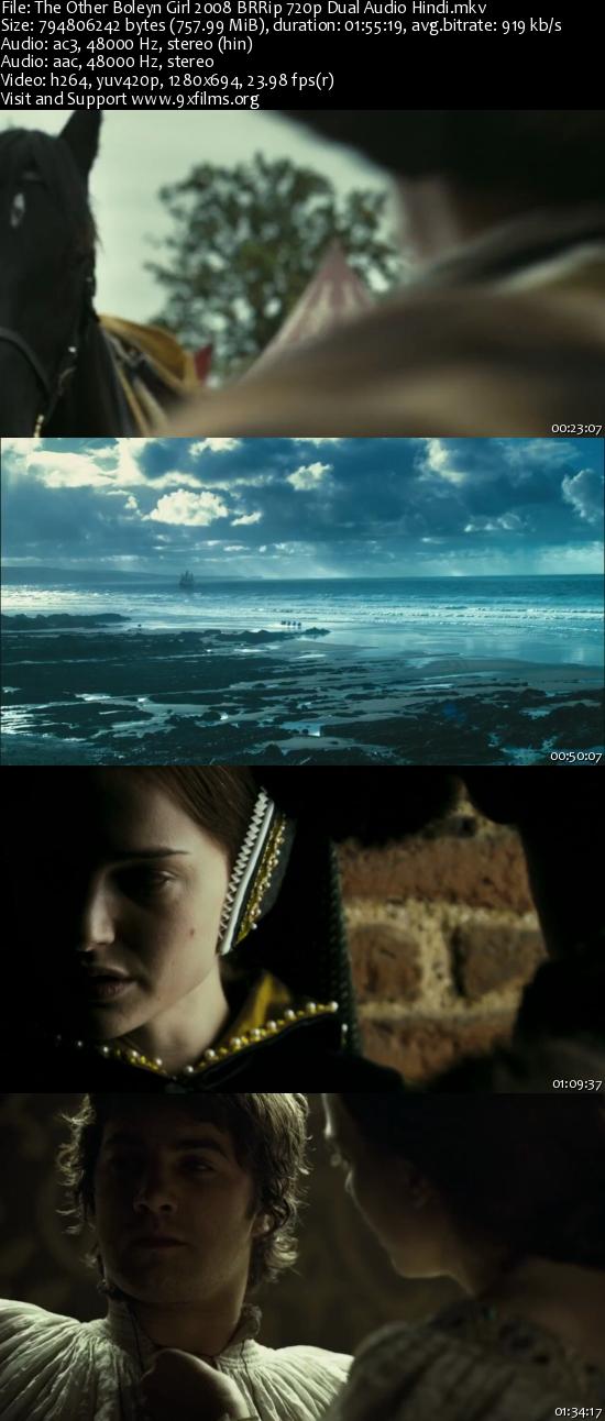 The Other Boleyn Girl 2008 BRRip 720p Dual Audio Hindi 700MB