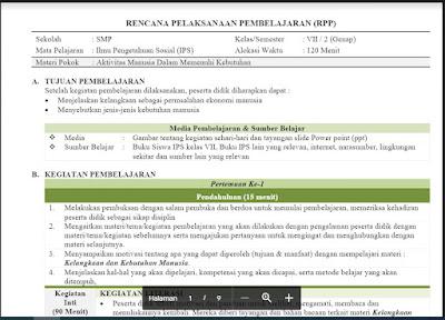 Download RPP Ilmu Pengtahuan Sosial (IPS) Kelas 7 Semester 2