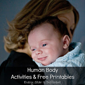 Human body learning activities and free printables for kids.