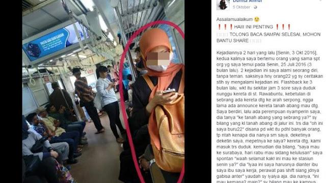 Hati-Hati Bila Bertemu dengan Wanita Berjilbab ini di Kereta, Jangan Sampai Anda Menjadi Korban Selanjutnya