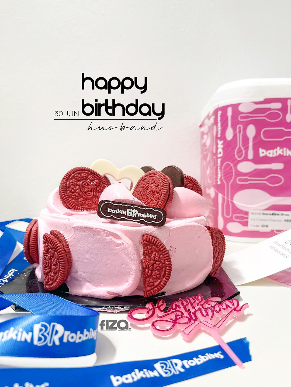 Happy Pinwheel Red flavour aiskrim Cookies n Cream