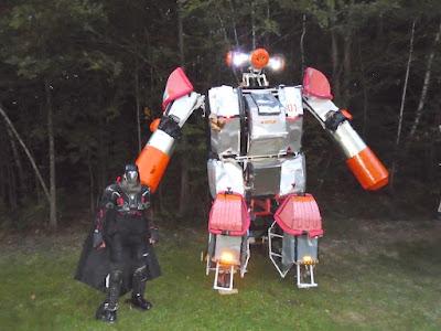 Joshua Nye and his big robot