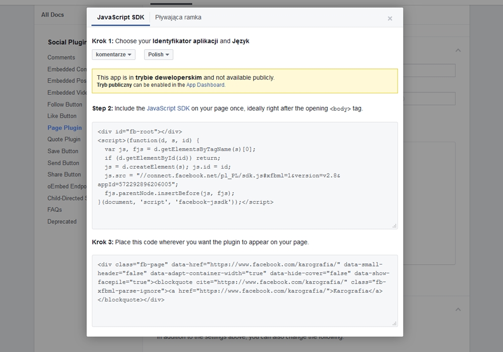 Jak dodać likeboxa (okienko facebooka) na bloggera? gdzie wkleić kody