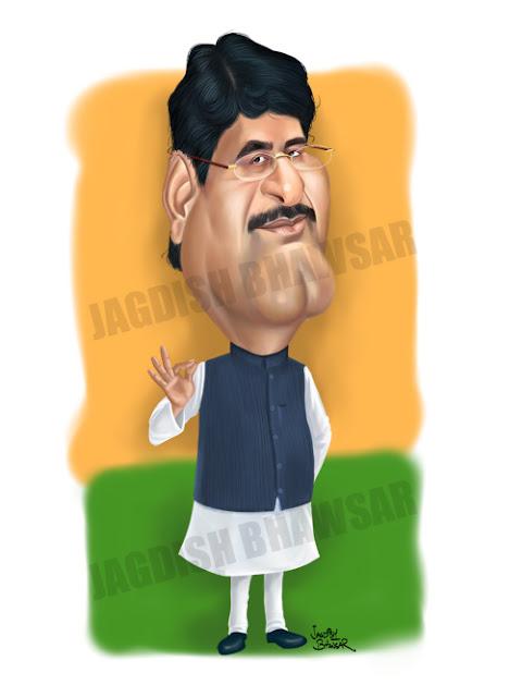 Gopinath Munde cartoon caricature