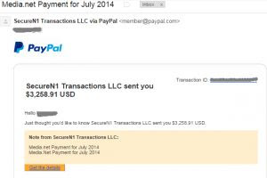 Media.net payment proof