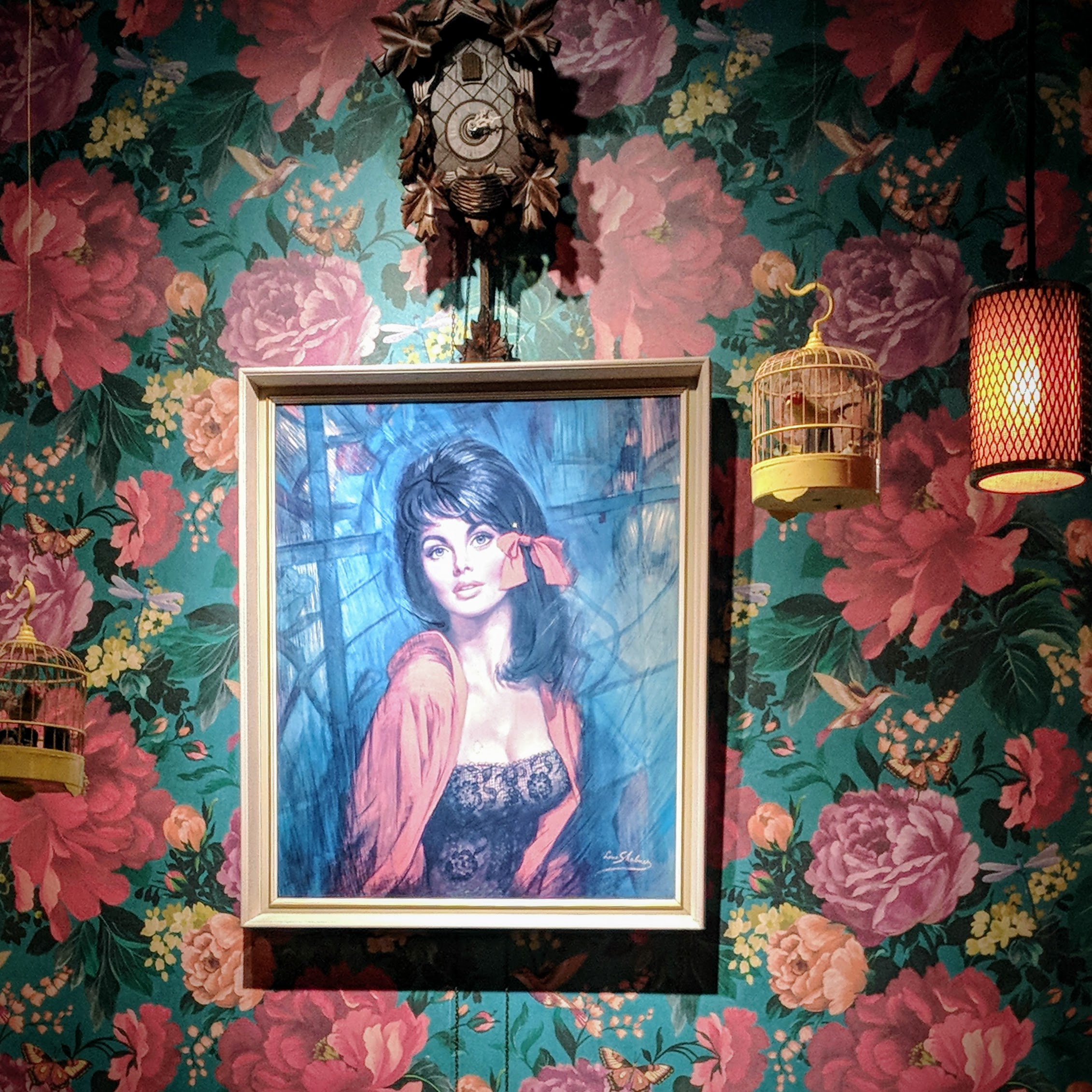 Painting in a bar
