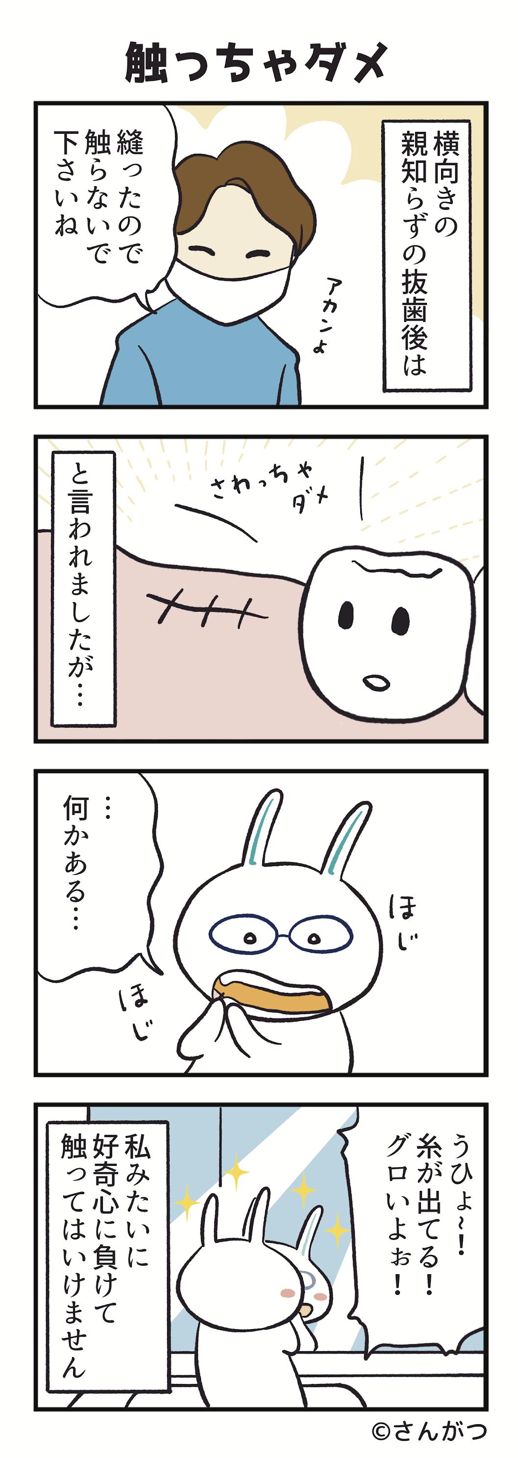 歯科矯正の漫画8「親知らずの抜歯・・・抜いた後は編」