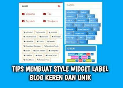Tips Membuat Style Widget Label Blog Keren Dan Unik