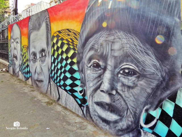 Perspectiva lateral de Grafites na Alameda Glete - Campos Elíseos - São Paulo