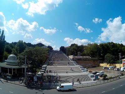Jedna z głównych atrakcji Odessy, czyli wielkie schody Potiomkowskie