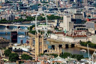 Paisajes de la ciudad de Londres y el Ojo de Londres