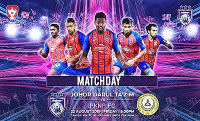 Live Streaming JDT vs Pknp, Piala Malaysia 23.8.2019