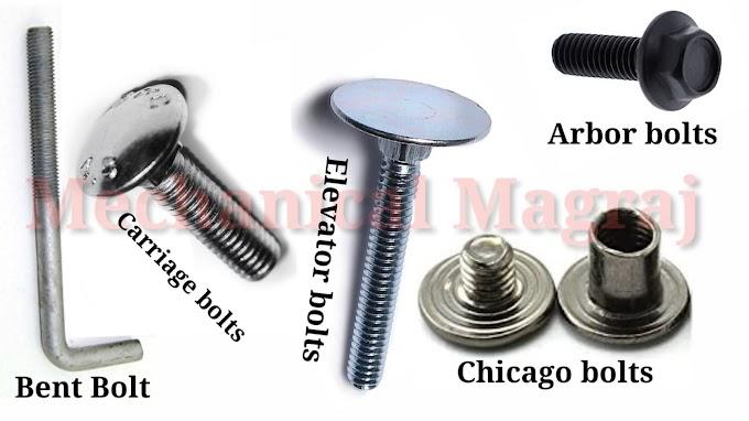 बोल्ट क्या है?  बोल्ट के प्रकार What is a bolt?  Types of bolts