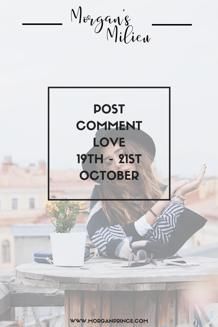 Post Comment Love 19th - 21st October | Want to give that post you wrote this week an extra bit of love. Join Stephanie and I in our little linky.