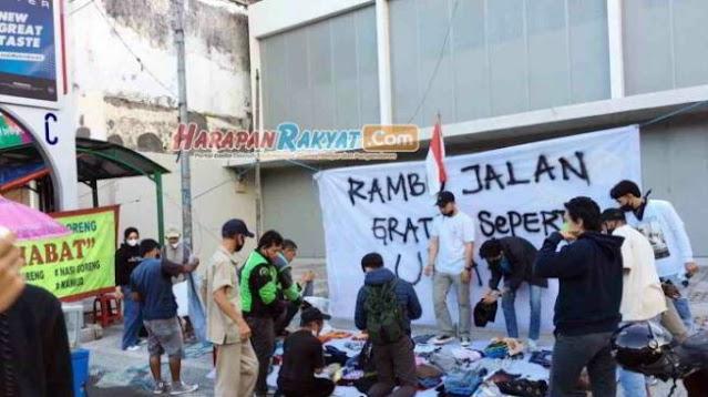 Protes PPKM, Komunitas Rambu Jalan Gelar Pasar Gratis