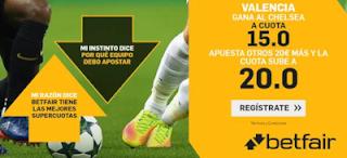 betfair Supercuota Especial Valencia gana a Chelsea 17 septiembre 2019