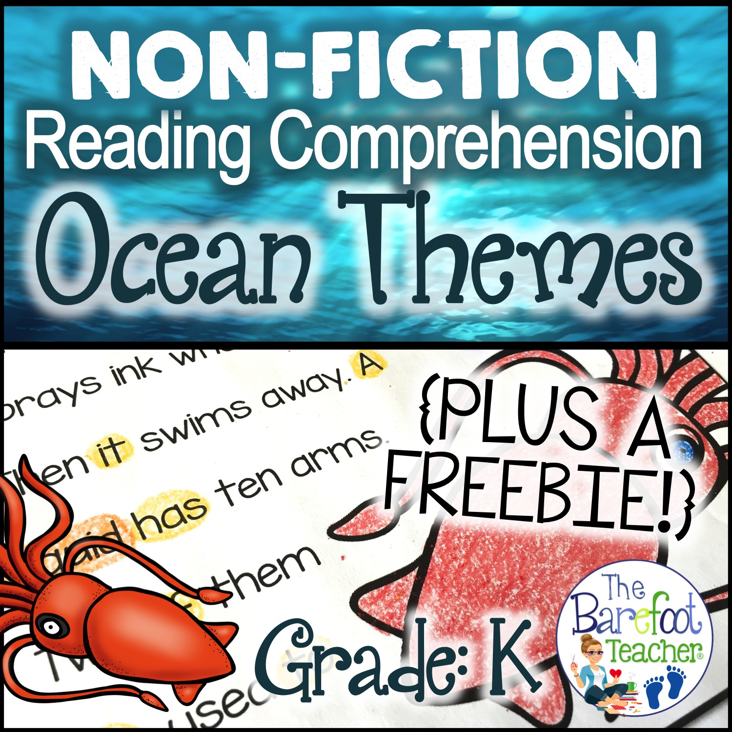 Ocean Themed Reading Comprehension Pack Plus A Free