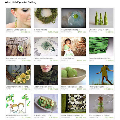When Irish Eyes Are Smiling - a new SweeterThanSweets treasury on Etsy