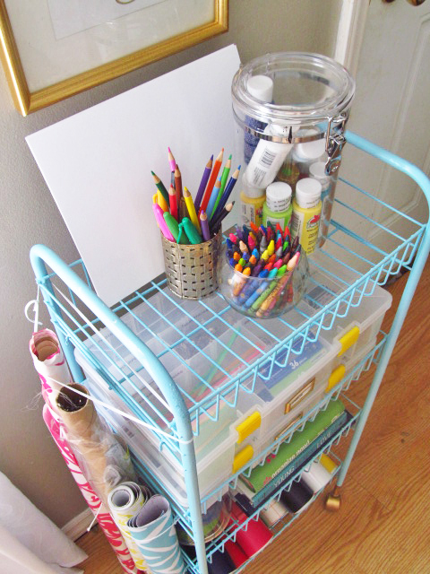 Down To The Wire Diy Craft Cart The House On Hillbrook