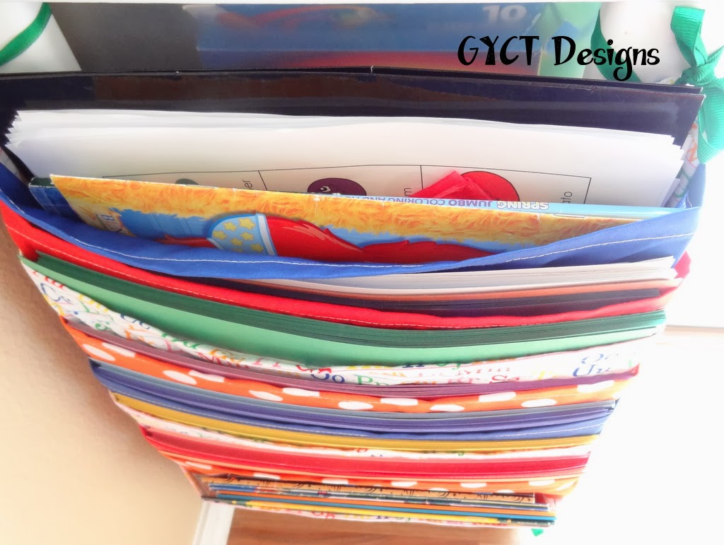 DIY Construction Paper Holder by GYCT