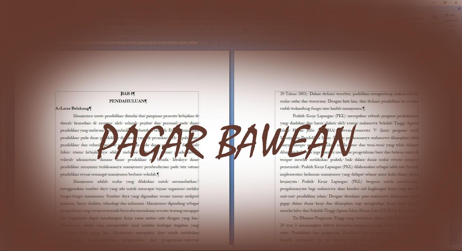 Contoh Laporan Pkl Magang Staiha Saat Kuliah Kelompok Juara 1 Pagar Bawean