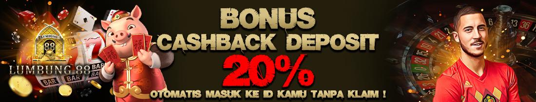 BONUS MASUK OTOMATIS 20%