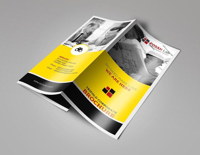 Business, Corporate, Trifold design, trifold brochure, brochure, creative, clean, print template, free