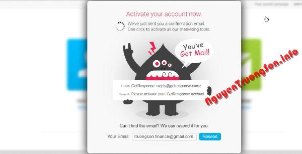 Hướng dẫn đăng ký sử dụng GetResponse làm Email Marketing