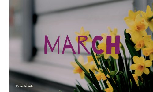 March title image with daffodils on right-hand side