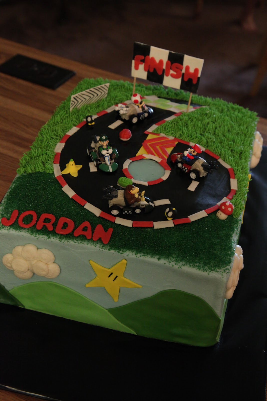 The Cake Box Girls Mario Kart Birthday Cake