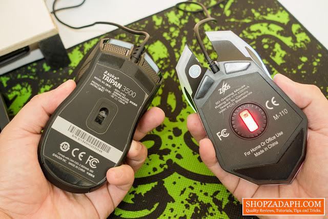 zeus m-110 gaming mouse driver - laser vs optical