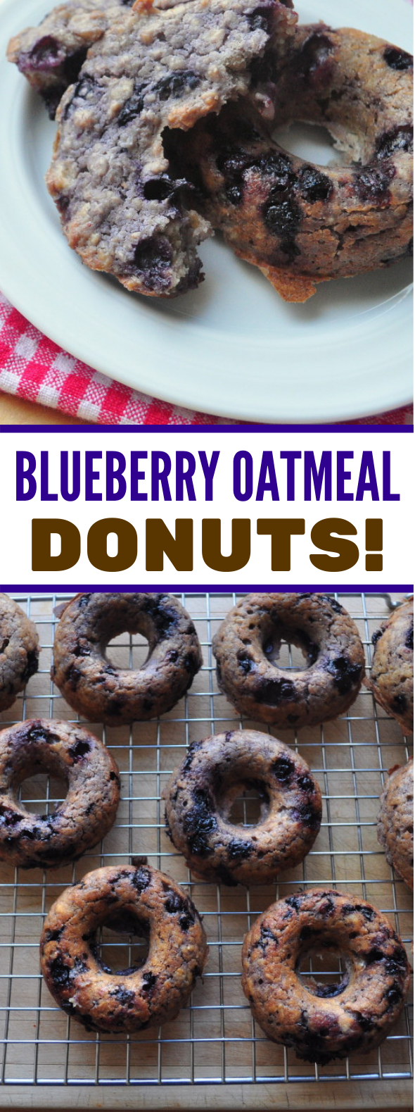 blueberry oatmeal muffin donuts! #schoolcnack #healthy