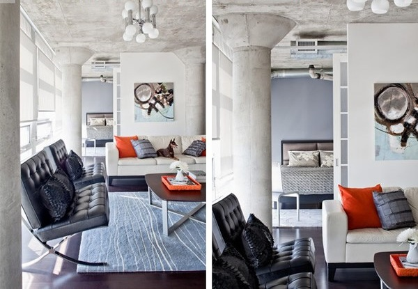 Heteruf designs decoraci n de un loft con estilo masculino for Decoracion estilo loft