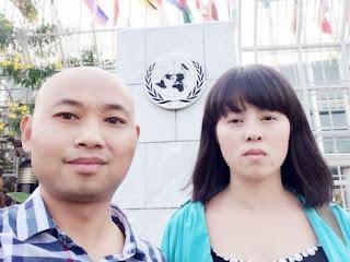 中国大陆流亡人士哎乌(原名吴玉华)、杨崇夫妇被留置泰国监狱无法赴加拿大 处境危急