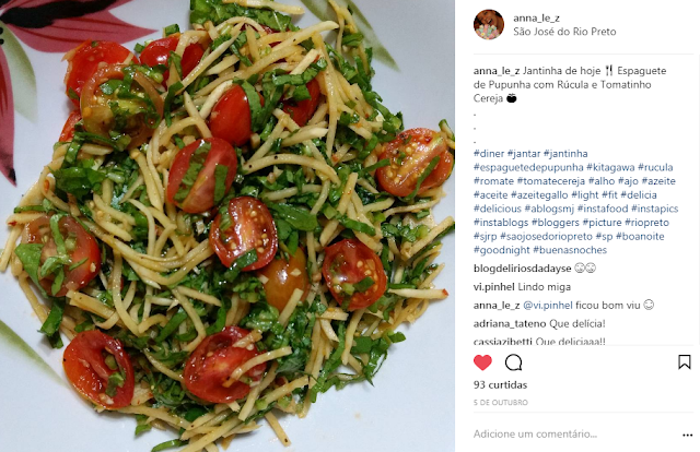 Espaguete de Pupunha Rúcula Tomate Cereja