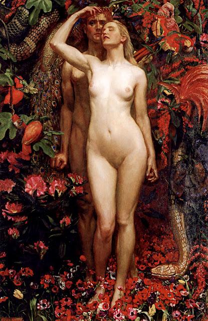 Byam Shaw: L'uomo, la Donna e il Serpente