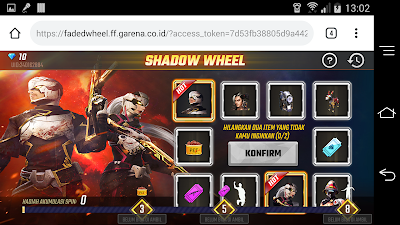 Cara Membuka Event Shadow Wheel Garena Free Fire