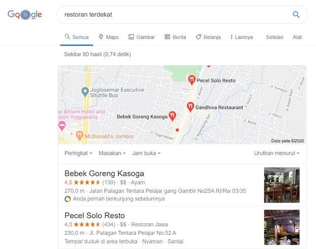 Contoh Google Bisnisku, Contoh My Google Business