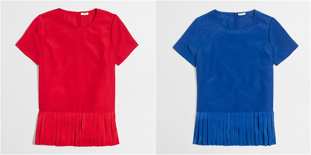 J. Crew Factory Pleated-Hem T-Shirt $24 (reg $70)