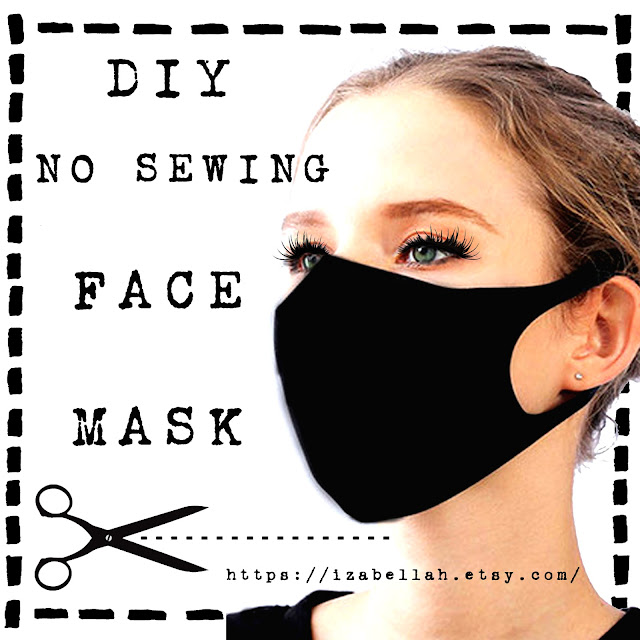Easy no sew Face Mask Pattern Printable Digital Download